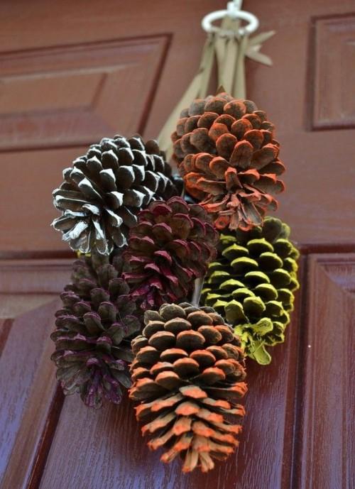Осенние поделки из шишек (3)