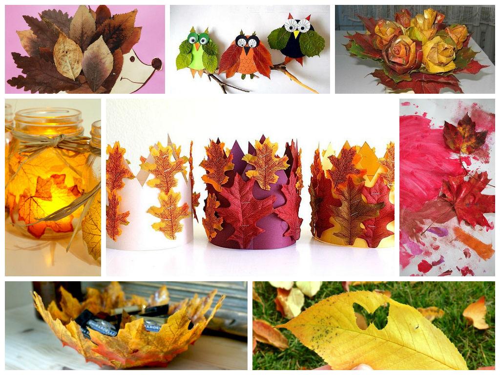 Поделки из листьев оригинальные 16