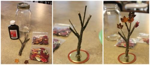 Поделка - осеннее дерево (4)