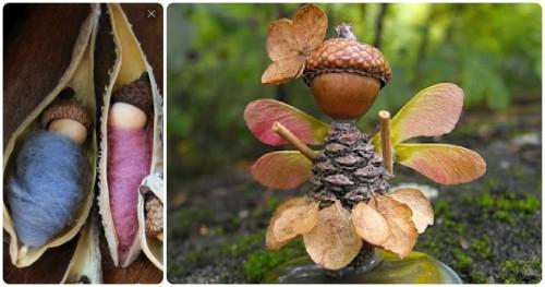 Осенние поделки из желудей (6)