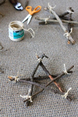 Зимние поделки из природного материала (5)