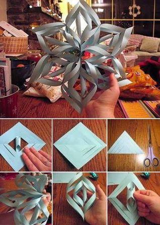 Как сделать снежинки своими руками пошаговое фото