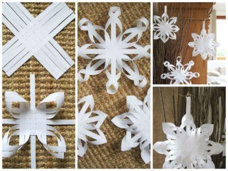 Как сделать большие снежинку из бумаги своими руками