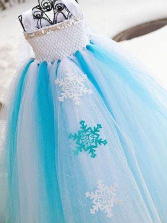 Платье-снежинка своими руками