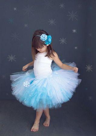 Костюм снежинки для девочки своими руками из фатина