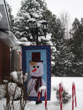 Снеговик из ткани своими руками (1)