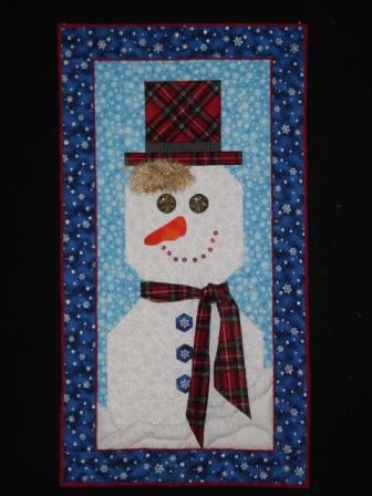 Снеговик из ткани своими руками (2)