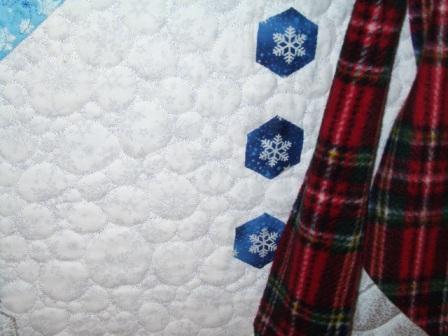 Снеговик из ткани своими руками (3)