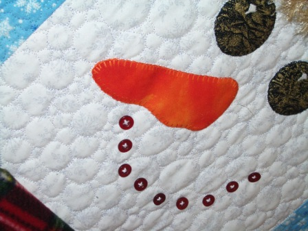 Снеговик из ткани своими руками (4)