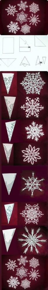 снежинки из бумаги схема