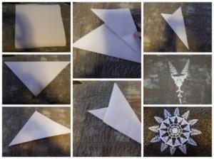 Как сделать снежинки своими руками из бумаги (7)
