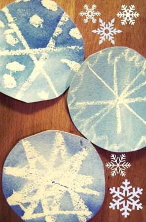 Как нарисовать снежинку (4)