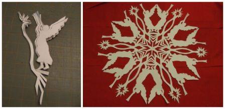 Снежинка из бумаги своими руками фото поэтапно