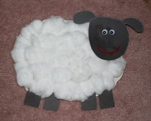 Поделка овечка к Новому 2015 году