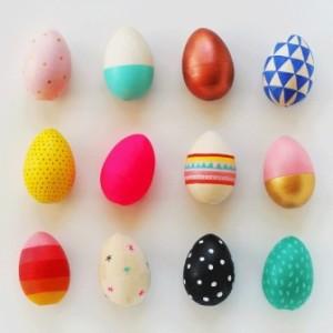 Деревянные пасхальные яйца для детей