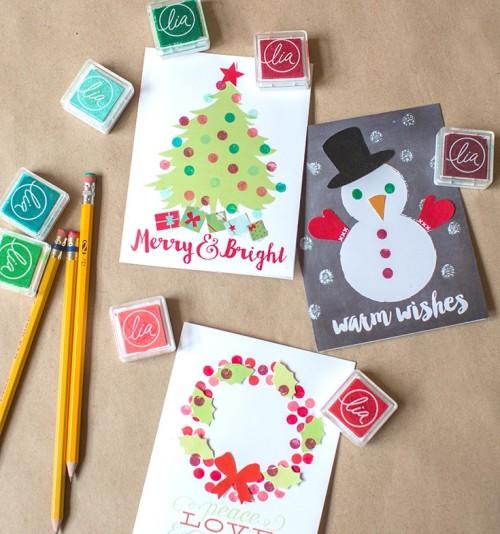 Делать с своими руками открытку на новый год