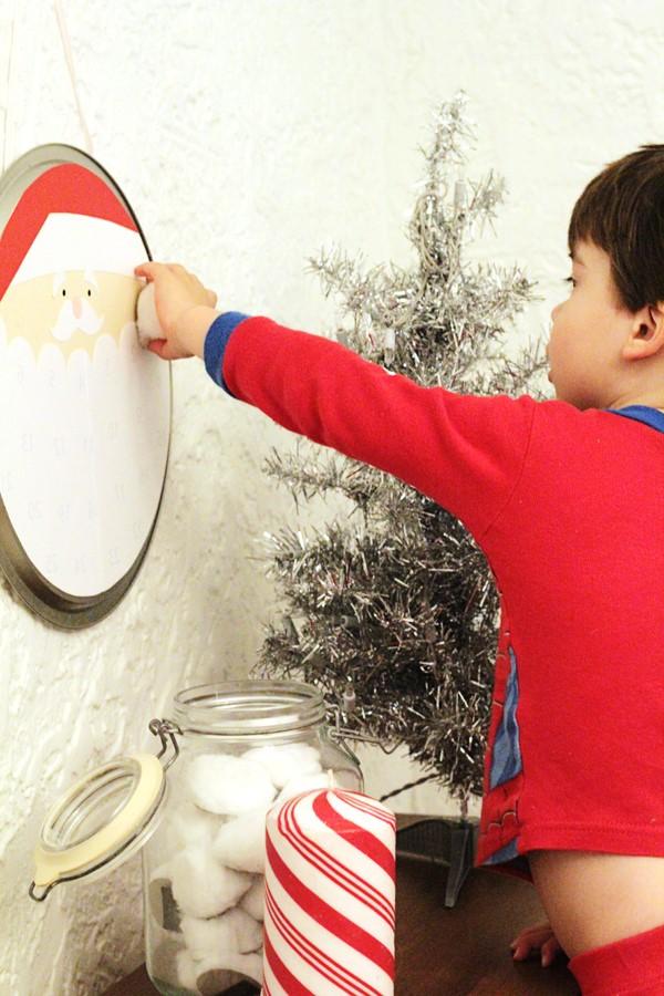 Детский новогодний календарь на декабрь