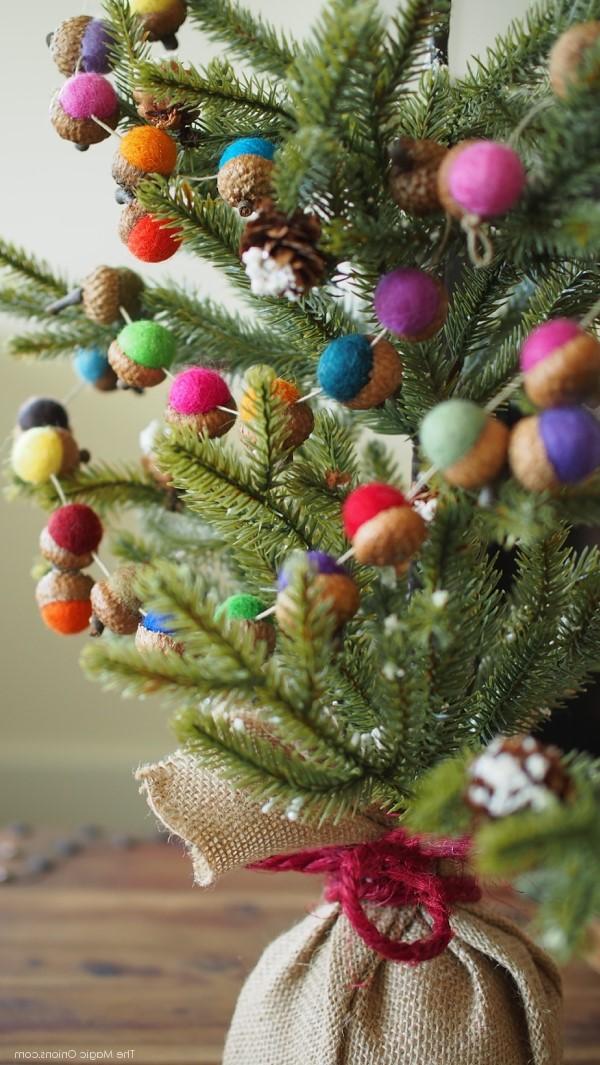 Как сделать новогоднюю гирлянду из войлока