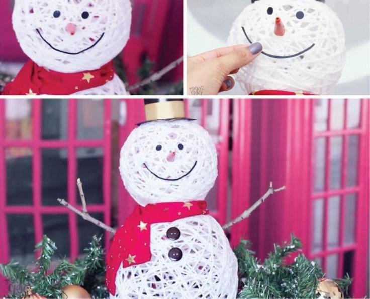 Как сделать новогодний шар из ниток