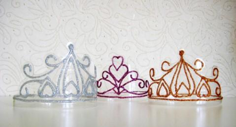 Зимняя корона на Новогодний утренник в детский сад