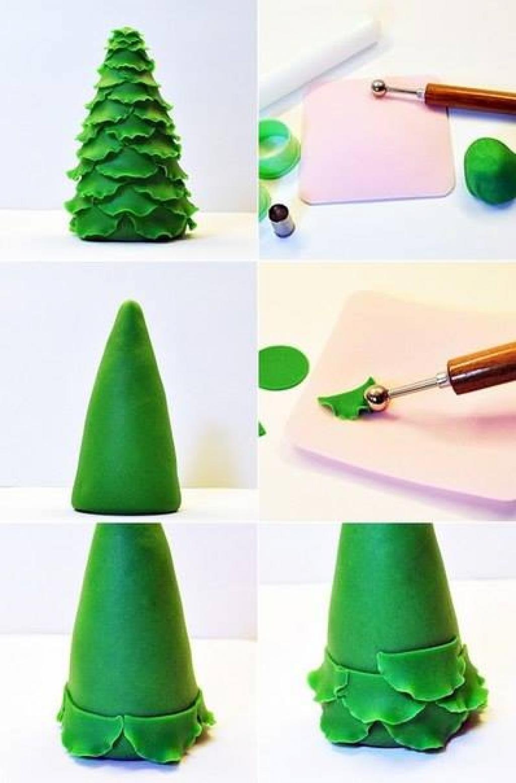 Новогодние елки из пластика своими руками