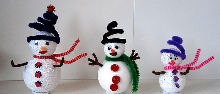 Поделка Снеговик своими руками для детского сада